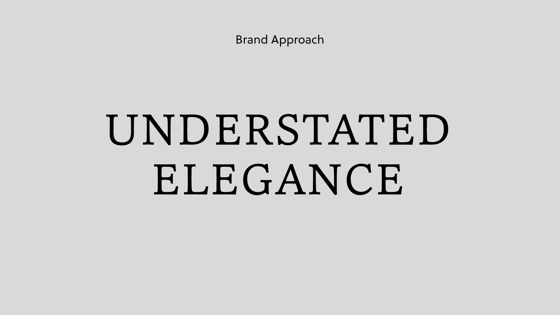 Alex Telfer Brand Approach
