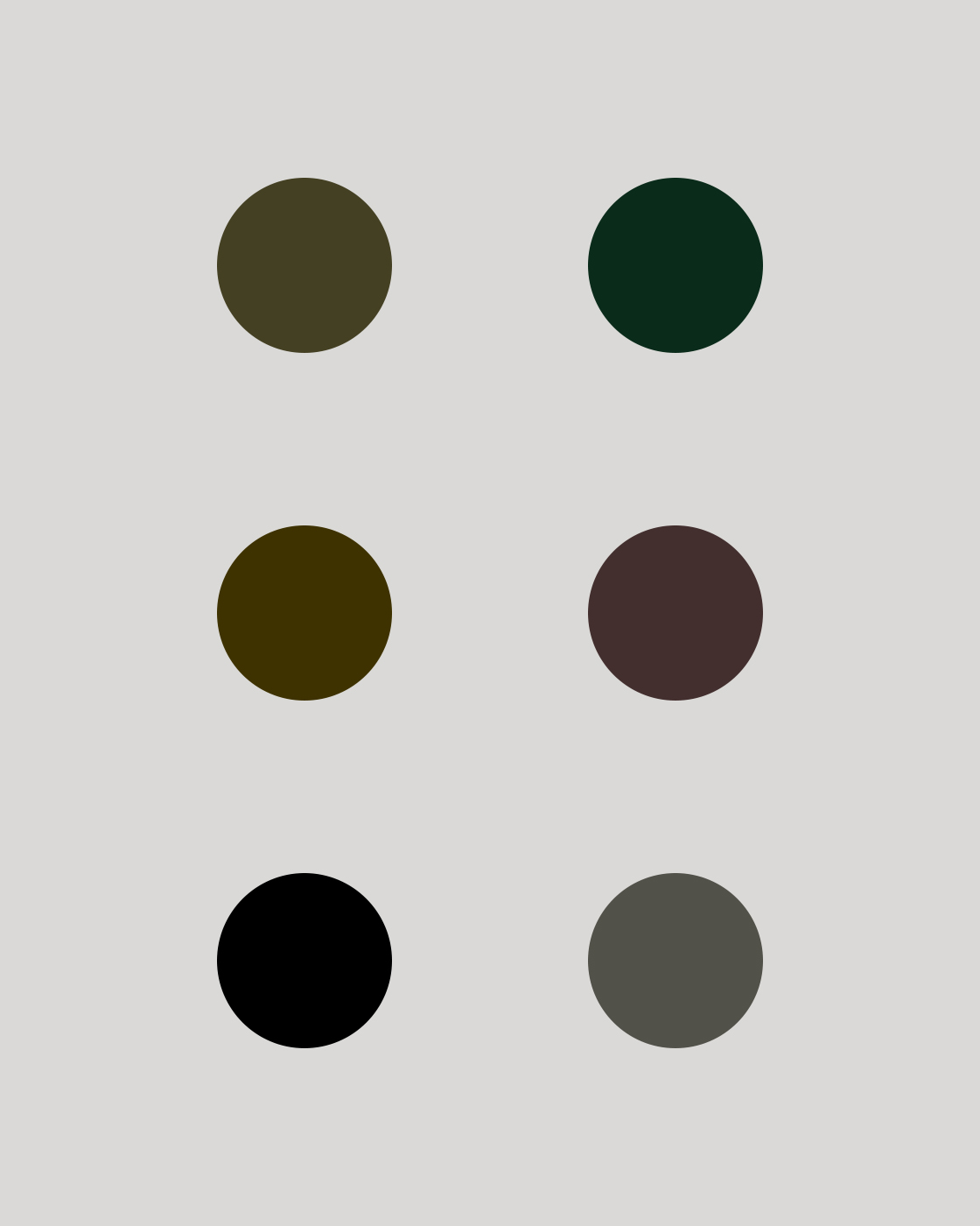 Alex Telfer Colour Palette