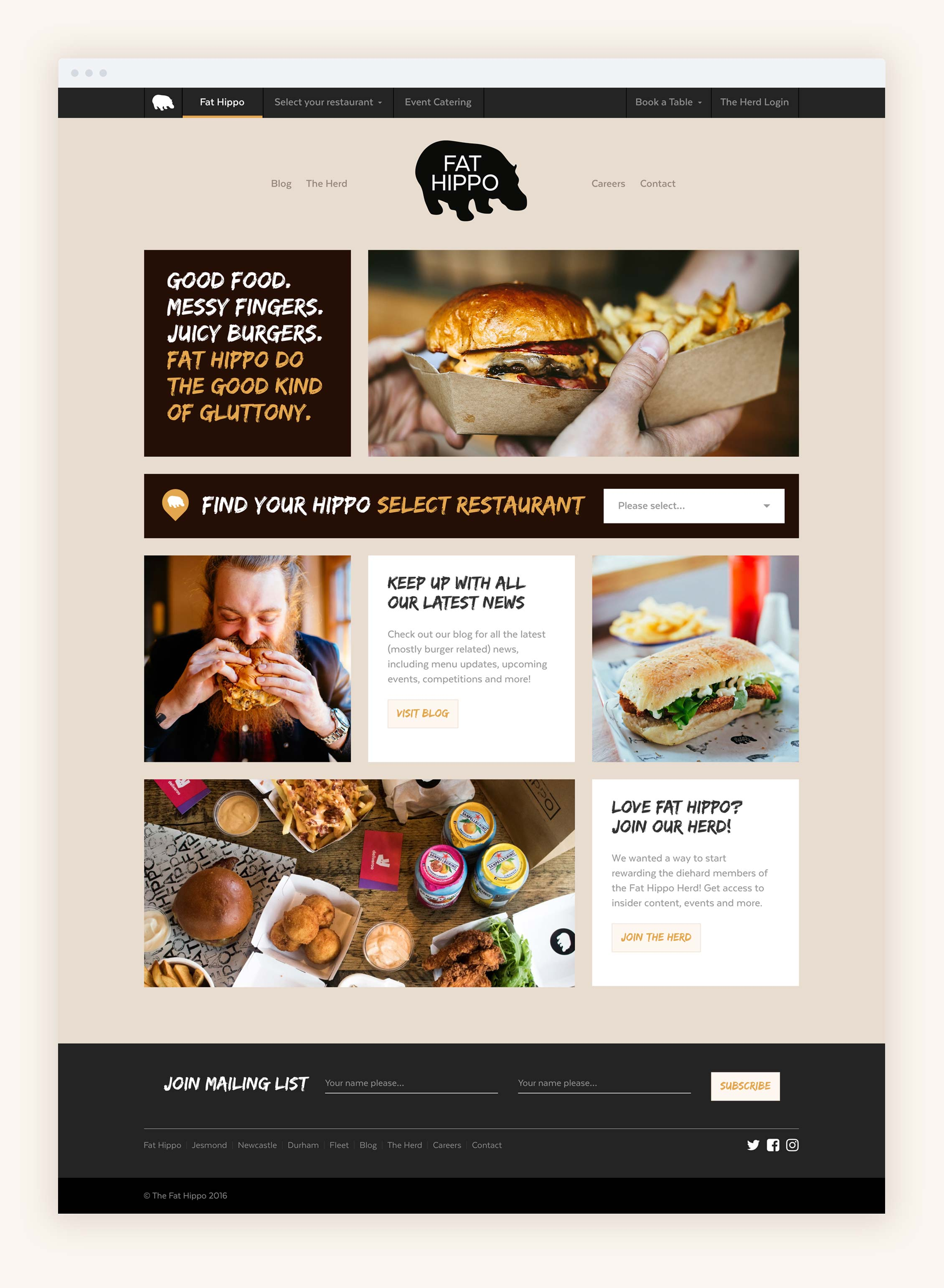 The Fat Hippo website